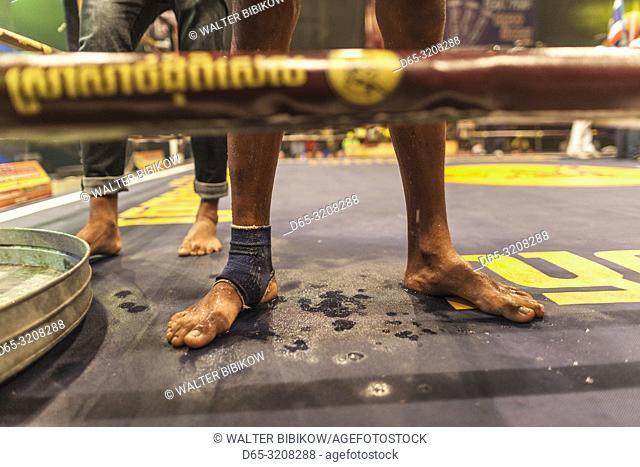 Cambodia, Phnom Penh, Cambodian kick boxing match, pradal serey, kickboxers, NR