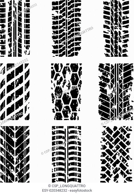 Tire tracks set