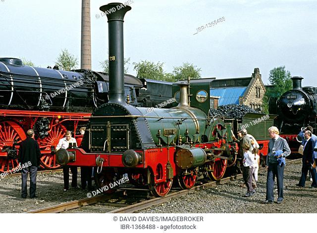 Die Pfalz replica from 1925 at the 150th anniversary of DB in 1985, Bochum, North Rhine-Westfalia, Germany, Europe