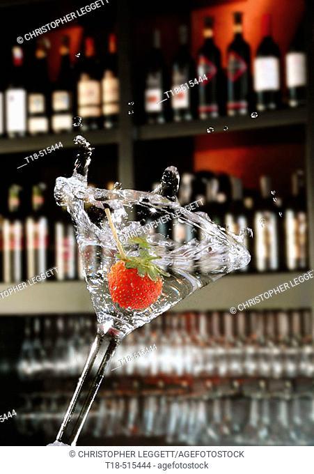 Strawberry martini spill