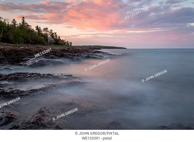 Sunrise at Lighthouse Point, Two Harbors, Lake Superior