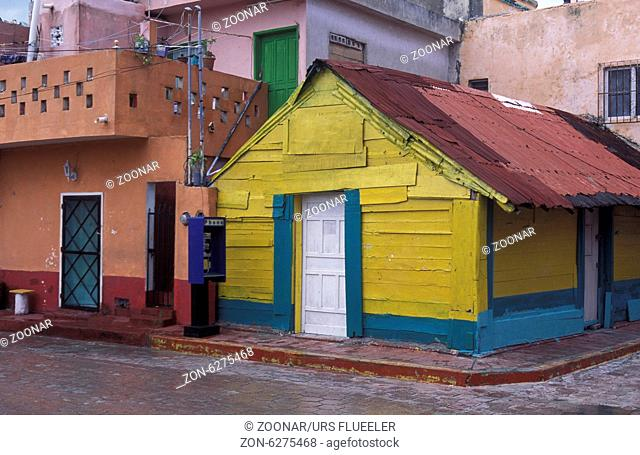 The town of Mujeres on the Iland Mujeres in The Province Yucatan in Mexico