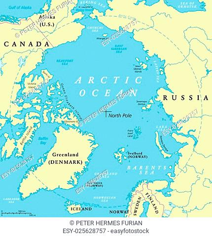 Arctic Circle Russia Map.Arctic Circle Bering Sea Russia Stock Photos And Images Age Fotostock