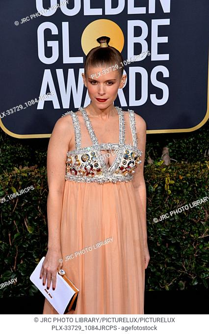 LOS ANGELES, CA. January 06, 2019: Kate Mara at the 2019 Golden Globe Awards at the Beverly Hilton Hotel. © 2019 JRC Photo Library/PictureLux ALL RIGHTS...