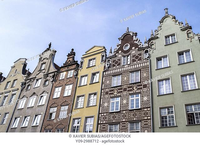 Houses, Long Market, Gdansk, Poland