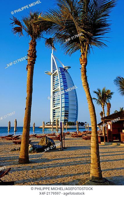 United Arab Emirates, Dubai, Jumeira beach, Burj Al Arab hotel