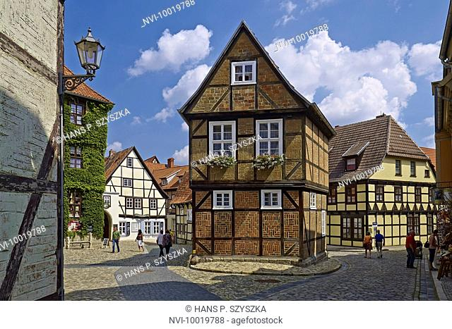 Houses at Finkenherd, Quedlinburg, Saxony-Anhalt, Germany