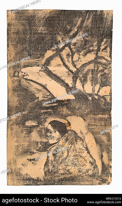 Maori Woman in the Forest - 1894/95 - Paul Gauguin French, 1848-1903 - Artist: Paul Gauguin, Origin: France, Date: 1894-1895