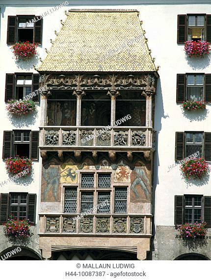 10087387, golden Dachl, Innsbruck, Austria, Europe, front view