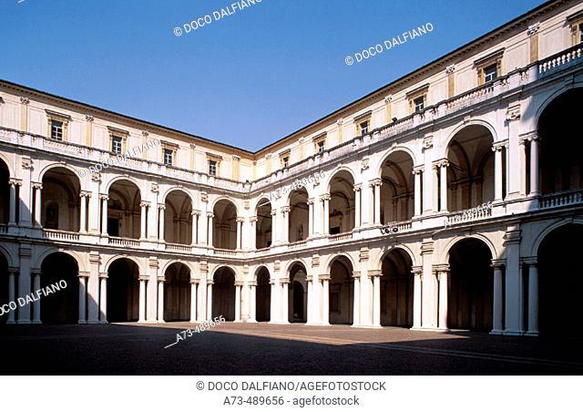 Italy - Emilia Romagna - Modena. Palazzo Ducale, the courtyard