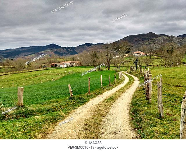 Rural landscape in Nava, Asturias, Spain