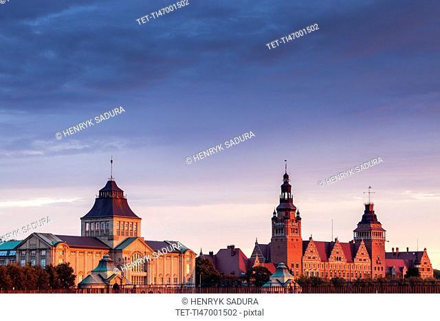 Old architecture of Szczecin Szczecin, West Pomeranian, Poland