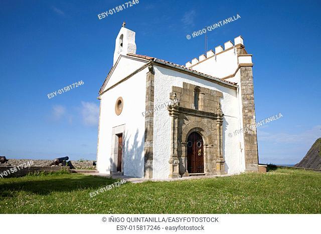 public hermitage Guia Virgin in Ribadesella town Asturias Spain Europe