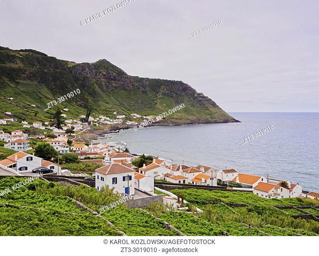 Sao Lourenco Bay, elevated view, Santa Maria Island, Azores, Portugal
