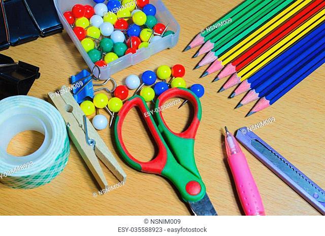 School office supplies on board