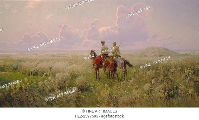 Cossacks in the Steppe, 1900s. Found in the collection of the Regional Art Museum, Kherson