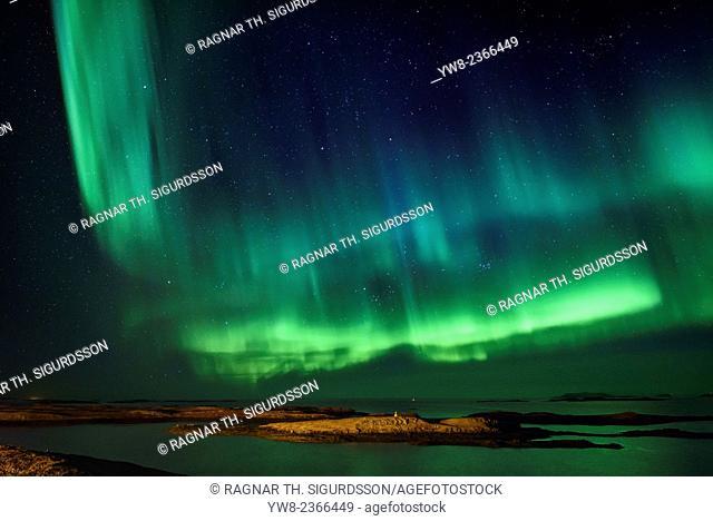 Aurora Borealis, Snaefellsnes Peninsula, Iceland