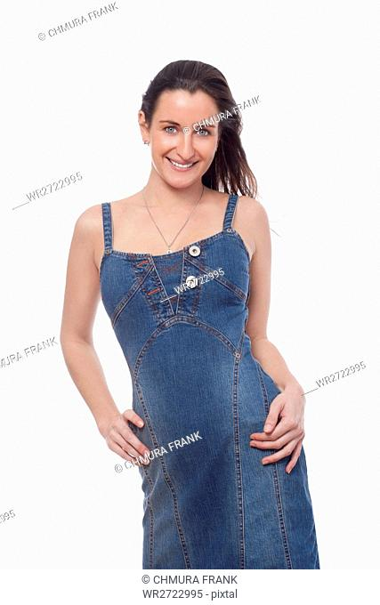277273d0b34 Brown hair isolated white background Stock Photos and Images | age ...