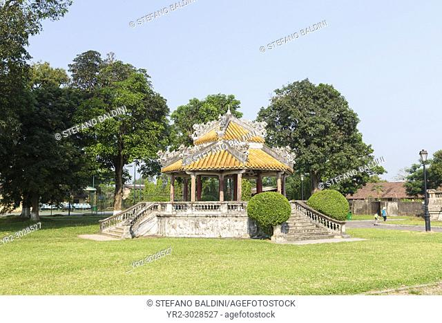 Pavilion in the Imperial City, also know as the Citadel, Hue, Vietnam