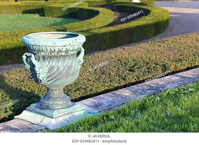 Garden in the castle of Versailles, Ile de France, France