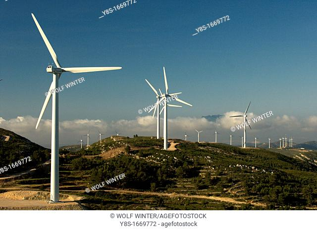 Windfarm, Tortosa, Catalonia, Spain