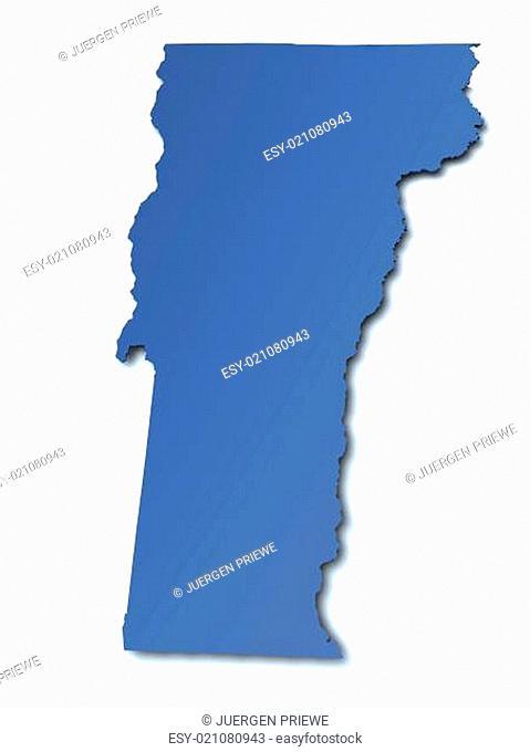 Karte von Vermont - USA