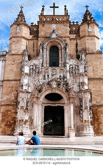 Main façade of Santa Cruz church, Coimbra, Portugal