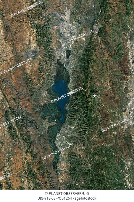 Inle Lake, Myanmar, True Colour Satellite Image. True colour satellite image of Inle Lake, a freshwater lake located in Myanmar