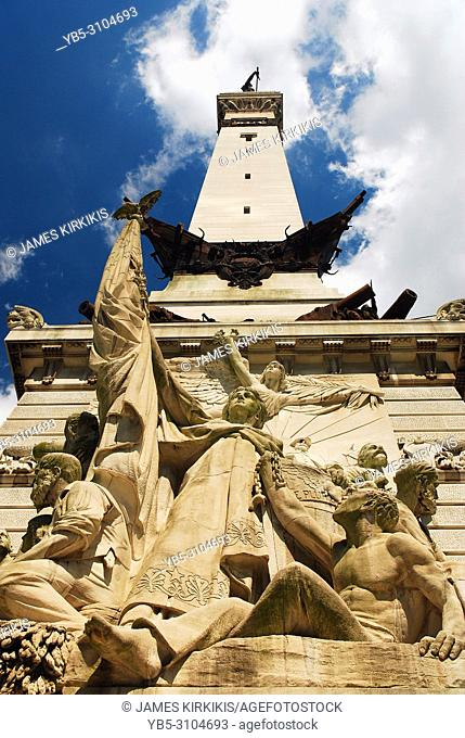 The Soldiers and Sailors Monument in Indianapolis, Indiana