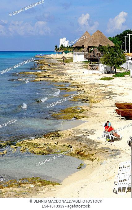 Beach Shoreline Cozumel Mexico Caribbean Cruise Ship Port