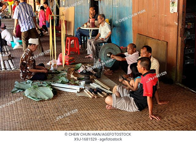 Celebrating Gawai at long house near kuching city, Sarawak, Malaysia