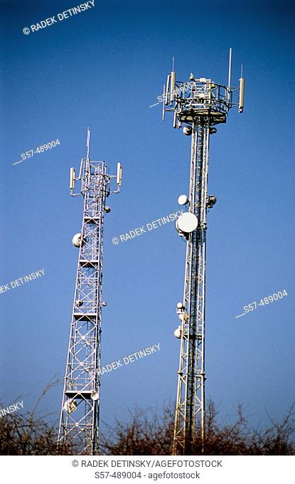 Telecommunication, mobile phone mast