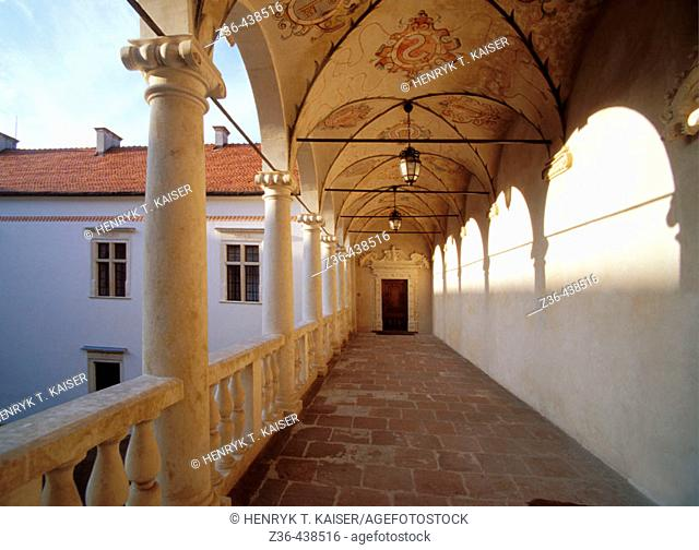 Baranow Sandomierski Castle, Poland. Leszczynski Castle built in Baranow Sandomierski in 1591-1606 is one of the finest examples of Mannerist architecture in...