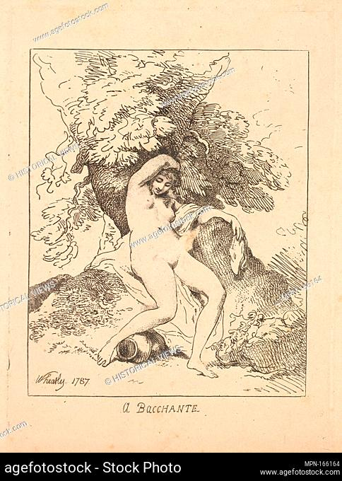 A Bacchante. Series/Portfolio: Imitations of Modern Drawings; Artist: Thomas Rowlandson (British, London 1757-1827 London); Artist: After Francis Wheatley...