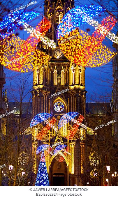 Christmas, Buen Pastor Cathedral, Donostia, San Sebastian, Gipuzkoa, Basque Country, Spain, Europe