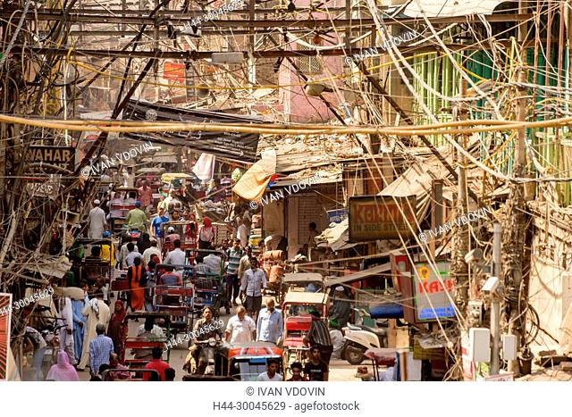 Street in old town, New Delhi, India