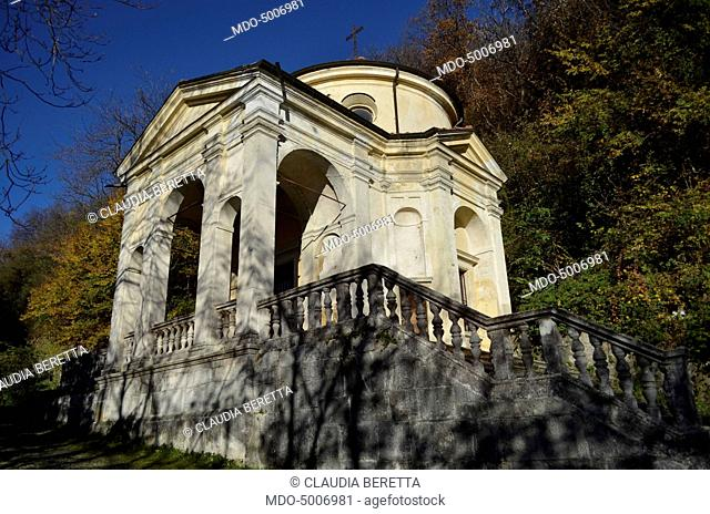 The Eighth Chapel dedicated to the Crown of thorns and located in the Sacro Monte of Varese Unesco. Varese, Italy. 8th November 2015