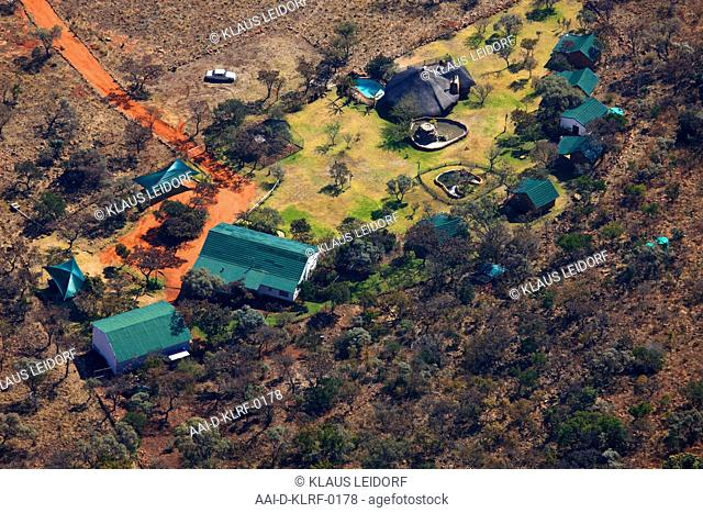 Aerial photograph of a holiday resort in Magalisburg, Gauteng