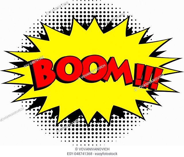 Boom comic word. Pop art retro style vector illustration, eps 10
