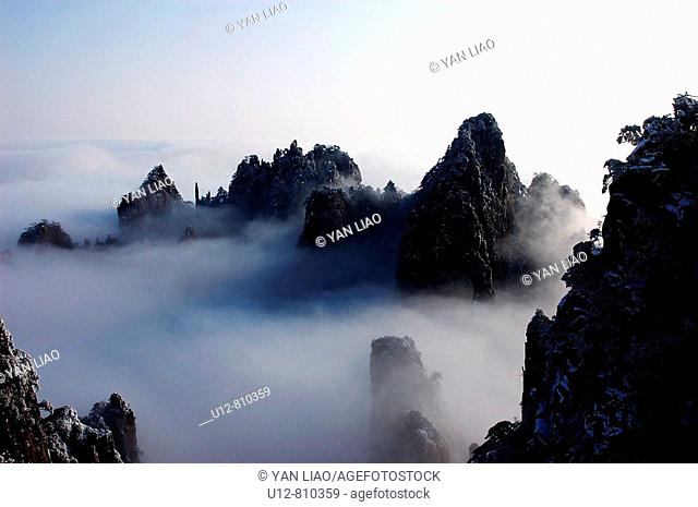 Mount Huang, also known as Huangshan , southern Anhui province. Eastern China