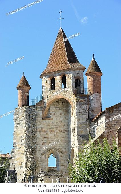 France, Tarn et Garonne, Auvillar, St Pierre church 12-14th C