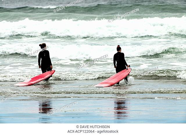 Surfers, Cox Bay, Tofino, BC, Canada