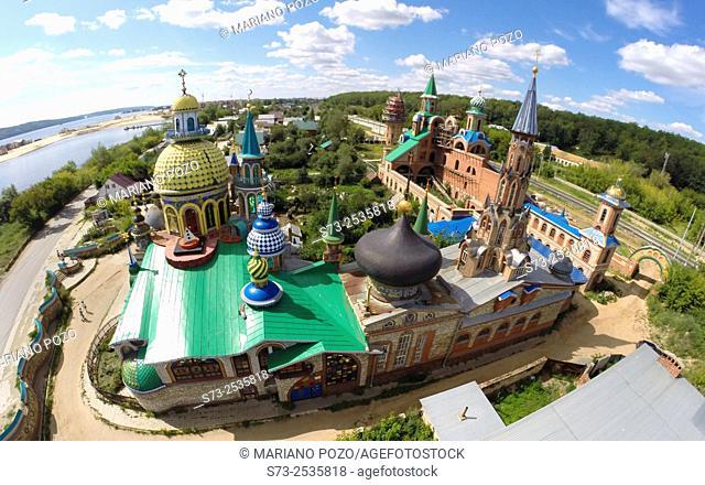 All Religions Temple aerial view, Kazan, Tatarstan, Russia