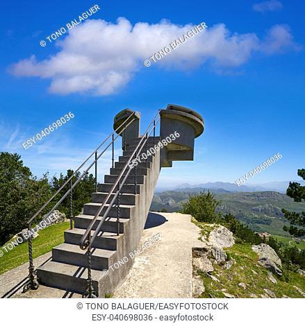 Mirador del Fitu viewpoint Fito in Asturias of Spain