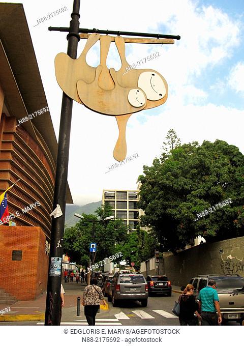 Sloth figure at Chacao street Caracas Venezuela