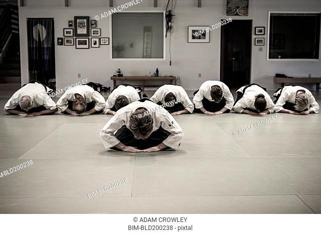 People in martial arts class