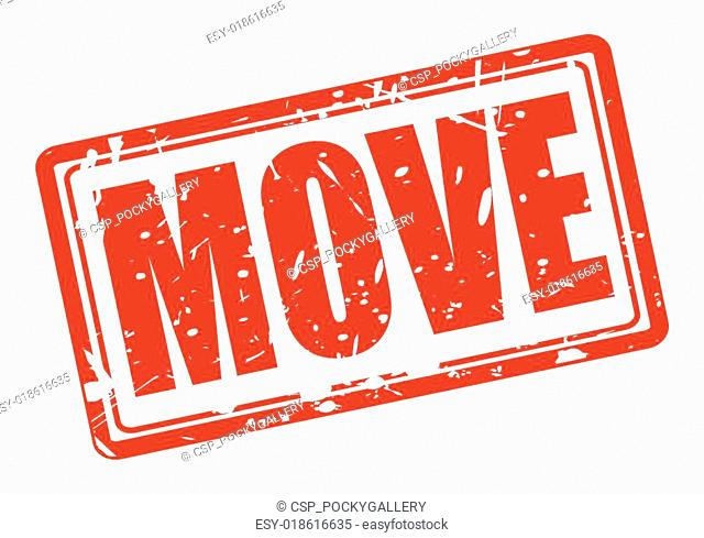 Move red stamp text