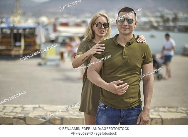 Young couple, Russian ethnicity, Hersonissos, Crete, Greece
