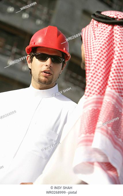 Arab Businessmen on the construction site