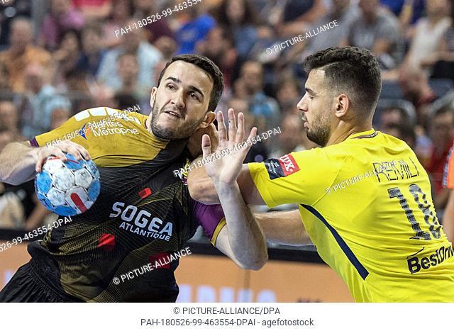26 May 2018, Germany, Cologne: Handball, Champions League, HBC Nantes vs Paris St. Germain, semi-finals at the Lanxess Arena